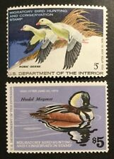 Tdstamps: Us Federal Duck Stamps Scott#Rw44 Rw45 $5 Mint Nh Og