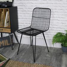 Black tubular wire metal Midas occasional dining chair vintage retro industrial
