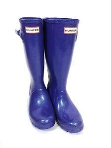 Hunter Starcloud Glitter Rain Boots Girls Electric Storm Size US 5B/6G EU 37 UK4