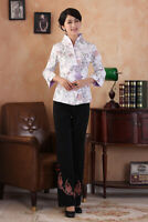Chinese Traditional  Blouse Women Cotton Shirt Summer Tops Size M-3XL