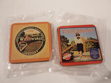 Tin Magnets Refrigerator Young America Red Ball California C.W.S. Willowvale