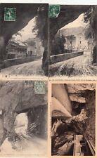 Lot 4 cartes postales anciennes DRÔME route des grands goulets 13