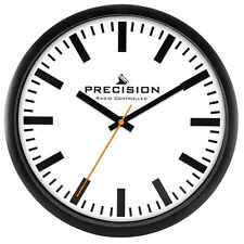 Precision Prec0109 Radio Controlled 30cm Round Wall Clock