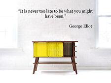 Vinyl Wall Decal Sticker Room Decor Saings Quotes Inspiring George Eliot F2033