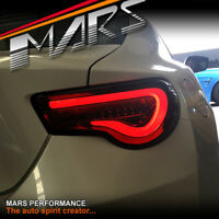 VALENTI Smoked Sequential Indicator Tail lights for Toyota 86 GT GTS Subaru BRZ