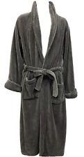 NWOT Restoration Hardware Sz M Gray Ultra Plush Fleece Mens Bathrobe Housecoat