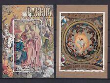 Äquatorialguinea Block 97 und 98 gestempelt, Ostern Gemälde