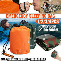 2 PCS Emergency Sleeping Bag Thermal Waterproof Outdoor Survival Camping Hiking