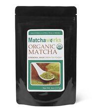 Matchaworks Matcha Green Tea Powder Ceremonial Grade Raw Organic, 4 Ounce