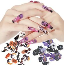 Paper Decals 3D Nail Art Sequins Decals Stickers Halloween Wood Pulp Slices Ghos