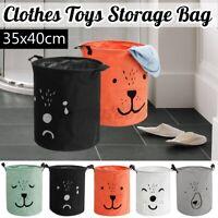 Storage Bin Laundry Bag Hamper Clothe Basket Cotton Foldable Waterproof Toy