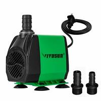 VIVOSUN 400/800 GPH Submersible Water Pump for Aquarium Fish Tank Pond Fountain