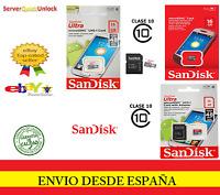 TARJETA DE MEMORIA SANDISK ULTRA CLASE 10 MICROSDHC MICRO SD 16 GB 16GB