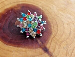 2 X Pin Brooch Diamante Scarf Saree Shawl Coat Hat Bridal Bouquet Flower  NEW