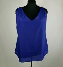 City Chic Sleeveless Top Royal Blue Multi-Color Straps Women's Size 16 NWT