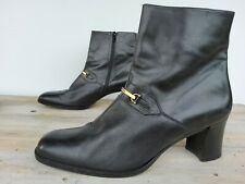 BALLY women's Ankle Boots UK Size 8 Black Colour Leather