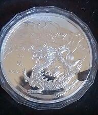 Pièce commémorative Argent Médaille Dragon Dragon 1 kg silver plated Coin 2012 NEUF