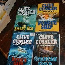 4 modern thrillers from Clive Cussler in hardcover from G.P. Putnam's Sons
