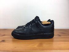 Nike Air Force 1 entrenadores de cuero negro Tamaño Uk7.5/EU42