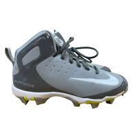 Nike Alpha Huarache Keystone Mid Kids Baseball Cleat EU 38 US 5.5Y Gray (923430)