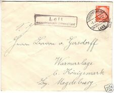 Landpoststempel, Poststelle II, Loit, Süderbarup (Kr. Schleswig) Land, 7.4.33