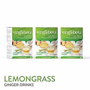 [SINGABERA] Premium Lemongrass Ginger Drinks Gluten Free 3 Boxes x 12 Sachets