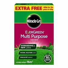 MiracleGro Evergreen Multi Purpose Grass Lawn Seed RYEGRASS 16m2 Coverage 480g