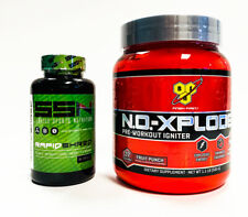 BSN N.O.-XPLODE Pre Workout Powder + SSN RAPID SHRED Fat Burner COMBO STACK SALE