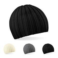 Beechfield - Herren Wintermütze Strickmütze Skater Mütze Cap Chunky Knit Beanie
