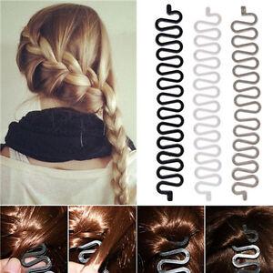 2Pcs Women Hair Styling Clip Stick Bun Maker Braid Tool Hair Accessories