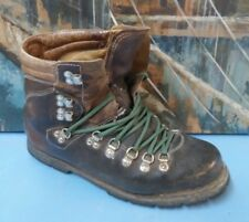 Vintage Mountaineer Hiking Boots Mountaineering Men 10 Brown