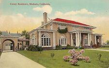 Cressy Residence in Modesto CA Postcard