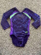 Girls Gk Gymnastics Leotard Leo Long Sleeve Child Medium Cm