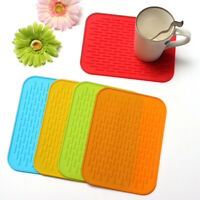 1x Rectangle Non-slip Heat Resistant Mat Trivet Pot Pan Holder Kitchen Accessor