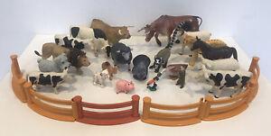 Bundle Of Plastic Animals Farm Safari & Fencing Mixed Makes