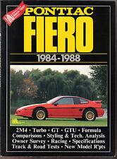 Pontiac Fiero 1984-1988 Road Test Book 2M4 Turbo GT GTU Racing Surveys Specs. +