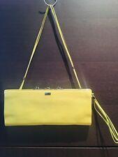 SERGIO ROSSI Vintage Lime Green Nappa Baguette Bag, Shoulder&hand Straps