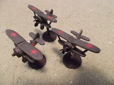 Flames of War 15mm, 1/144 Scale painted Soviet POLIKARPOV I-153 Aircraft  (3)