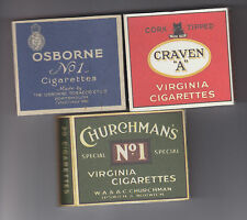 WW2 SET OF 3 USABLE 20 SIZE  CIGARETTE PACKETS (REPRO)