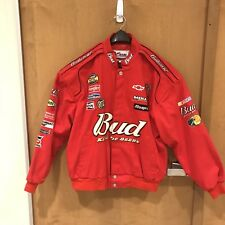 Dale Earnhardt Sr INC NASCAR Racing BUD Jacket MEN'S SIZE XL RED NWOT