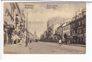 POLEN , WARSZAWA , NOWY SWIAT , WARSCHAU , STRASSENBAHN , FELDPOST 1916