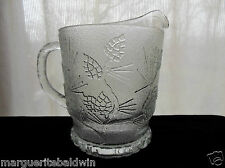 Tiara Indiana Glass Clear Ponderosa Pine 68 oz Pitcher