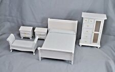 Bedroom Bed Set dollhouse furniture 5pc T0132  1/12 scale wooden