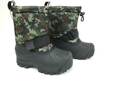 Northside Winter Snow Boots Digital Camo Toddler Size 8 Reflective Insulated