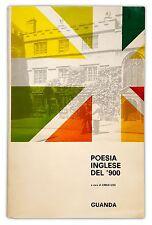 POESIA INGLESE DEL'900 - a cura di Carlo Izzo - GUANDA 1967