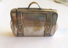 Antique Vintage Figural Match Safe Suitcase/duffle Bag Shaped