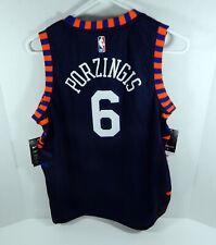 Juventud Nueva York Knicks Kristaps Porzingis Edición Ciudad Azul #6 Jersey Swingman M