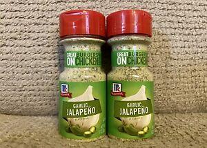 McCormick Garlic Jalapeno Seasoning, 3 OZ, Exp 12/2021, Lot Of 2