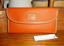 NEW! DOONEY & BOURKE Patterson Tangerine leather Continental clutch wallet $128
