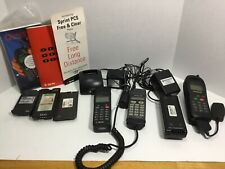 Lot Vintage Cell Phones With Accessories For Parts Sony Qualcomm Ericcson -parts